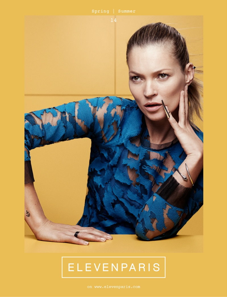 kate moss elevenparis2 Kate Moss is the Face of ElevenParis Spring 2014 Campaign