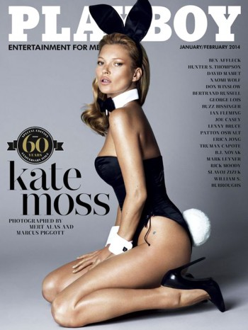 Kate Moss Covers Playboy's 60th Anniversary Issue / Photo by Mert & Marcus