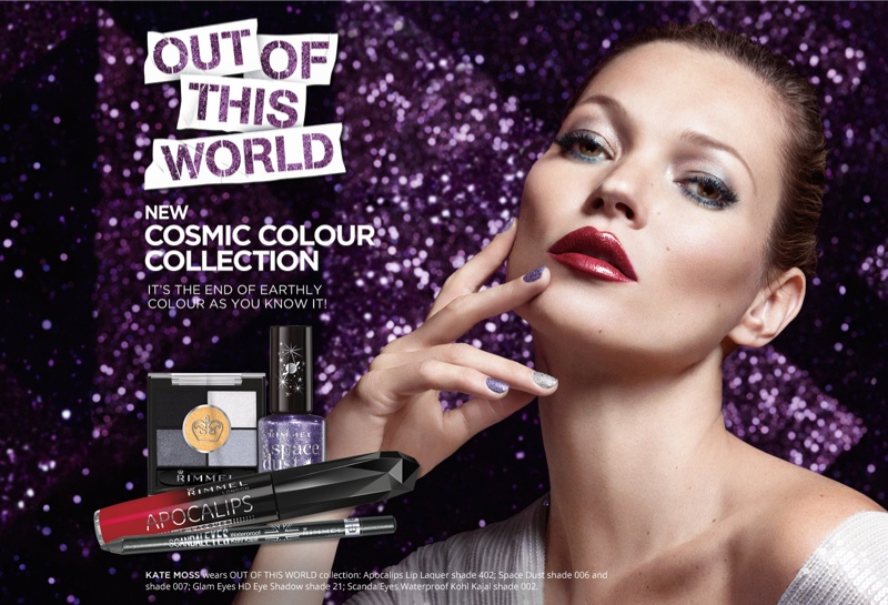 kate moss rimmel holiday1 Kate Moss Stars in Rimmel Londons Out of This World Christmas Campaign