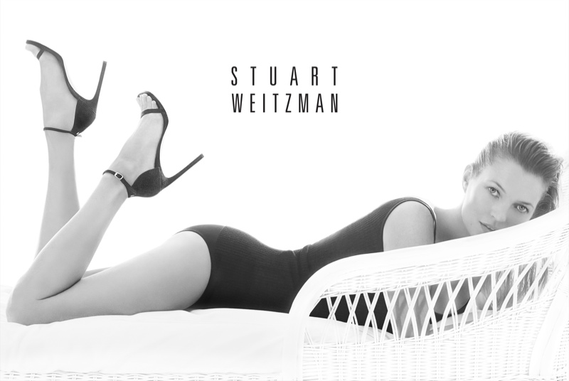 kate moss stuart weitzman2 Kate Moss Plays Pin up in Stuart Weitzmans Spring 2014 Ads