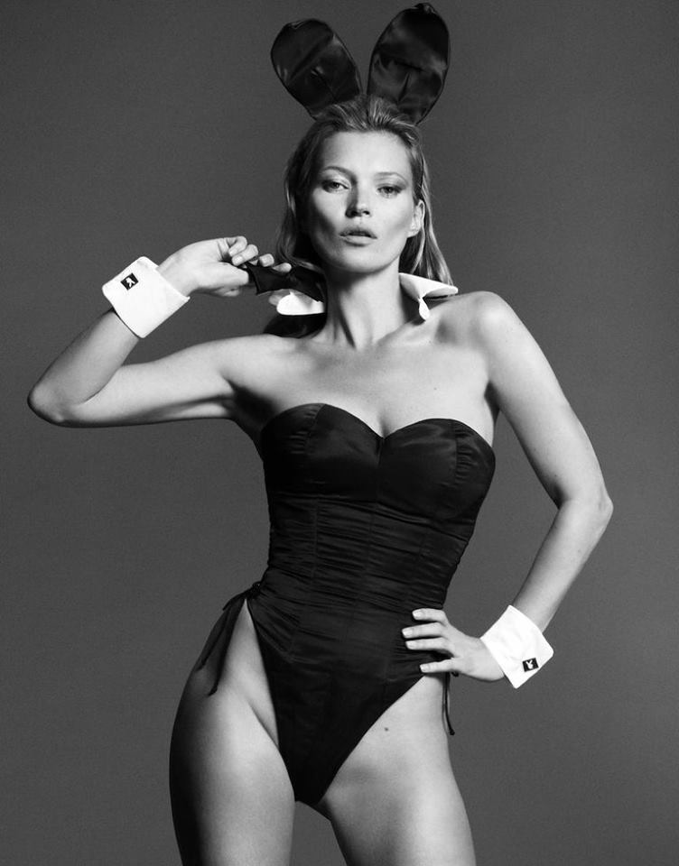kate playboy 60th anniversary3 Kate Moss Cover for Playboys 60th Anniversary Issue is Here