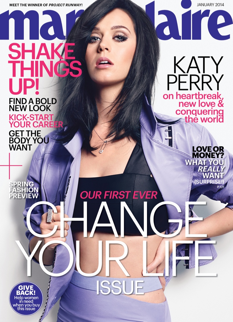 katy marie claire1 Katy Perry Lands Marie Claire January 2014 Cover, Talks Vulnerability