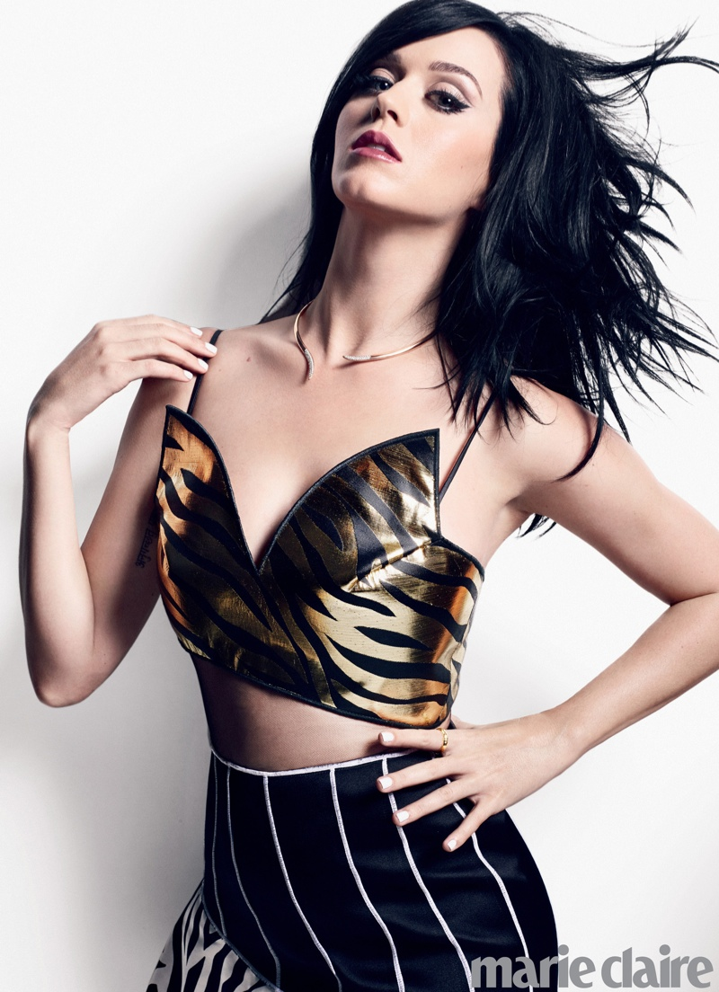 katy marie claire2 Katy Perry Lands Marie Claire January 2014 Cover, Talks Vulnerability