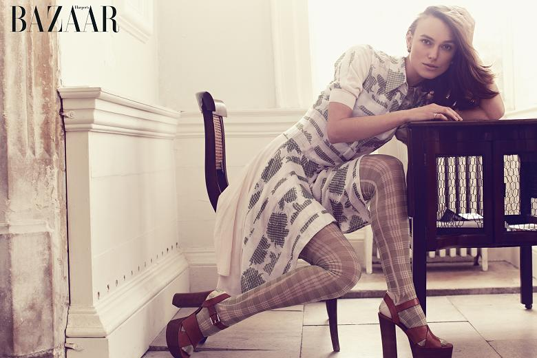 keira bazaar cover Keira Knightley Covers Harpers Bazaar UK, Talks Feminism & Twitter