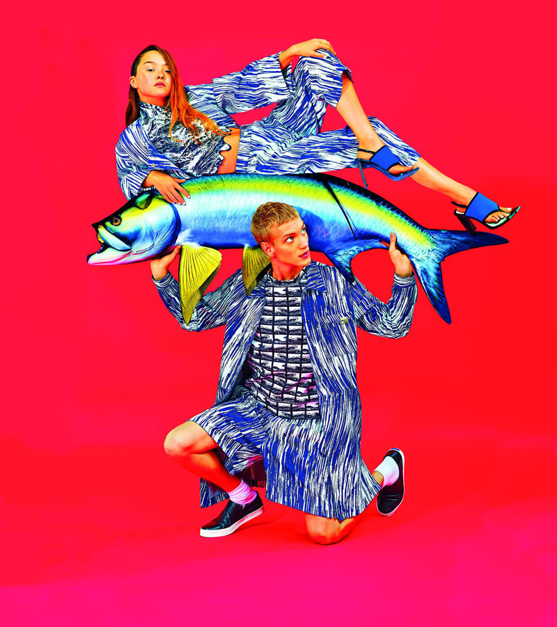 Devon Aoki Gets Aquatic in Kenzo's Spring 2014 Campaign