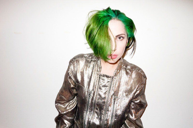 lady gaga by terry1 Lady Gaga Rocks Green Hair in Terry Richardson Photos