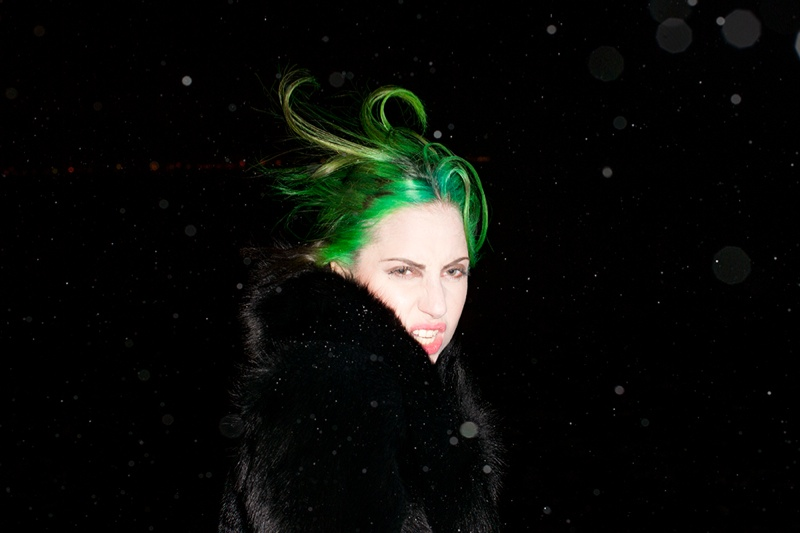 lady gaga by terry6 Lady Gaga Rocks Green Hair in Terry Richardson Photos