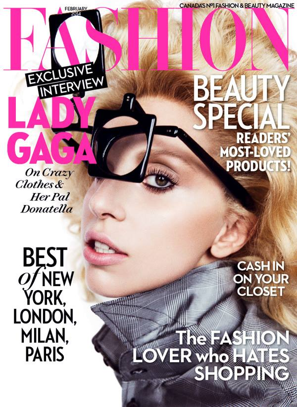 lady gaga fashion cover Lady Gaga Covers Fashion Magazine, Talks Friendship with Donatella Versace