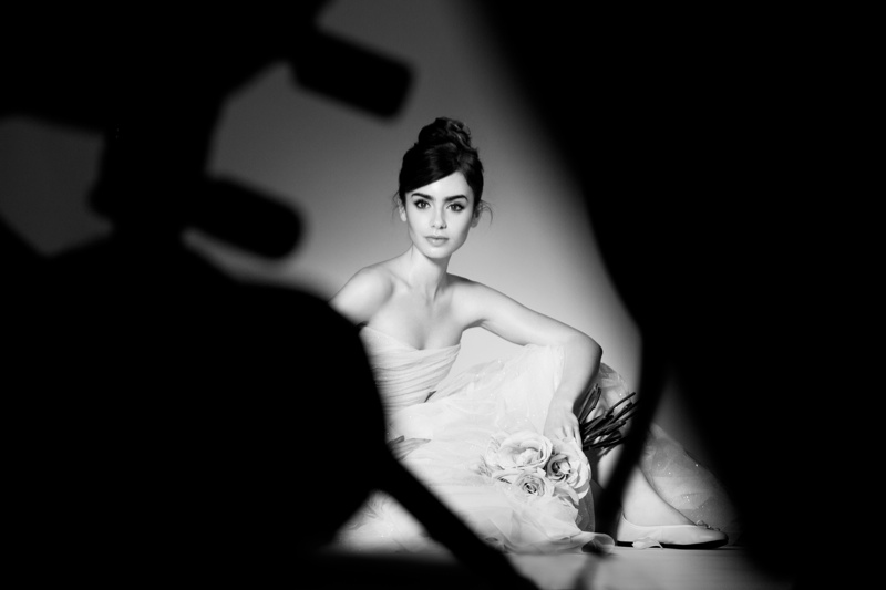 lily collins lancome bts Lily Collins is a Ballerina for New Lancome Campaign