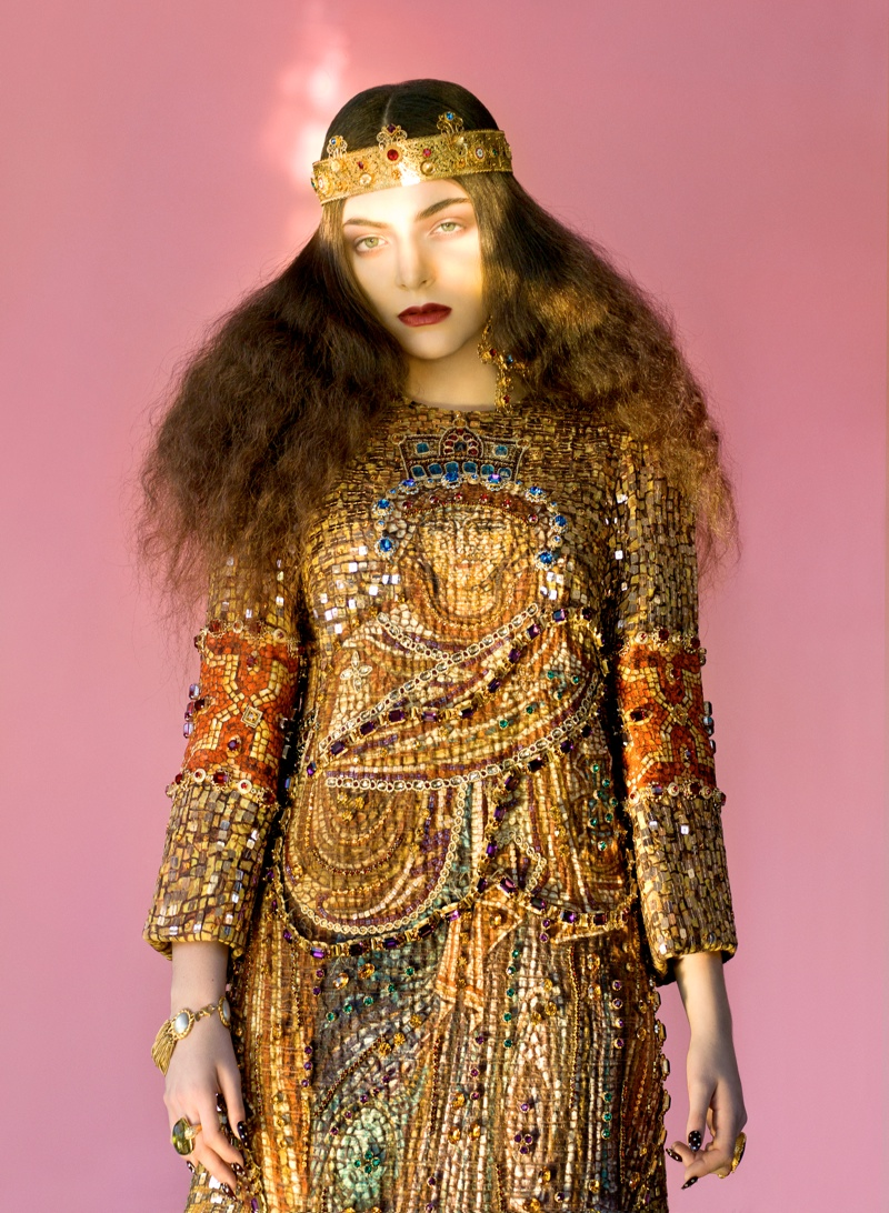 lorde royal wild magazine2 Lorde Looks Like Royalty for The Wild Magazine by Stevie and Mada