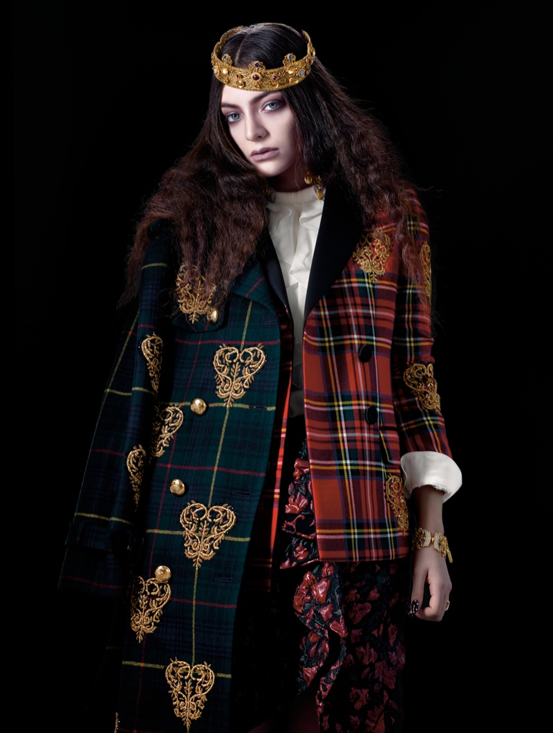 lorde royal wild magazine3 Lorde Looks Like Royalty for The Wild Magazine by Stevie and Mada