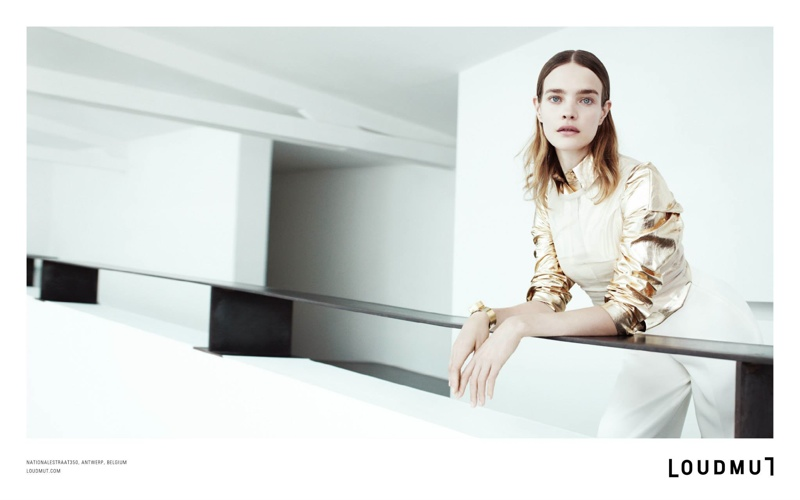 loudmut natalia vodianova4 Natalia Vodianova Fronts Loudmut F/W 2013 Ads by Willy Vanderperre