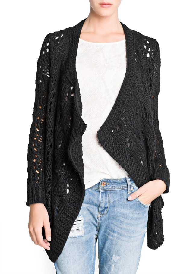 mango openwork sweater Mango Sale: Get Fall/Winter Items at 50% Off