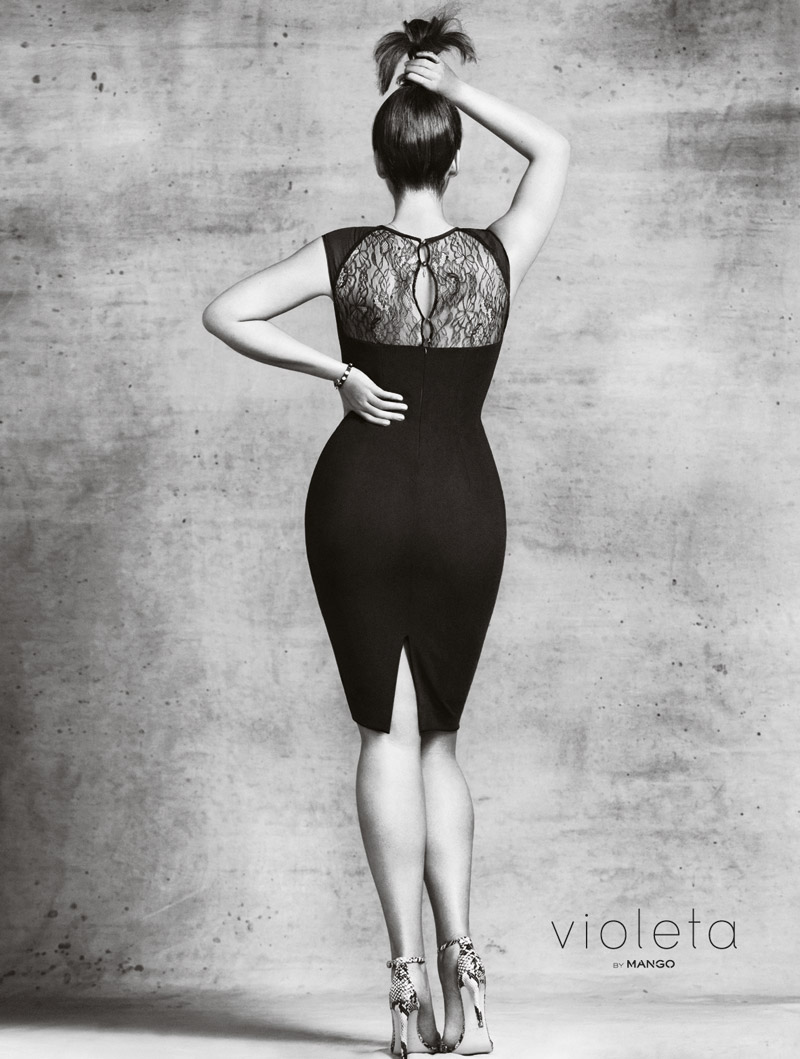 "Campaign image from Mango's new plus size line, ""Violeta"""