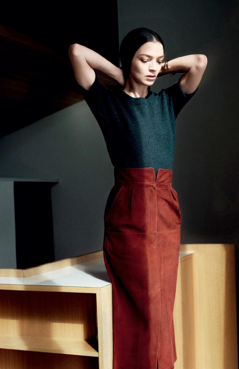 Mariacarla Boscono Poses for Hermes Fall/Winter 2013 Catalogue