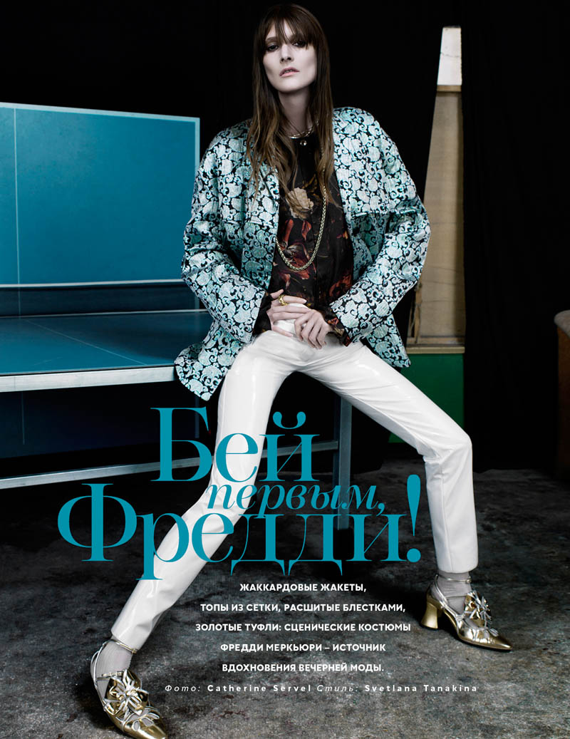 marie piovesan model1 Marie Piovesan is Rock Glam for Vogue Russia by Catherine Servel