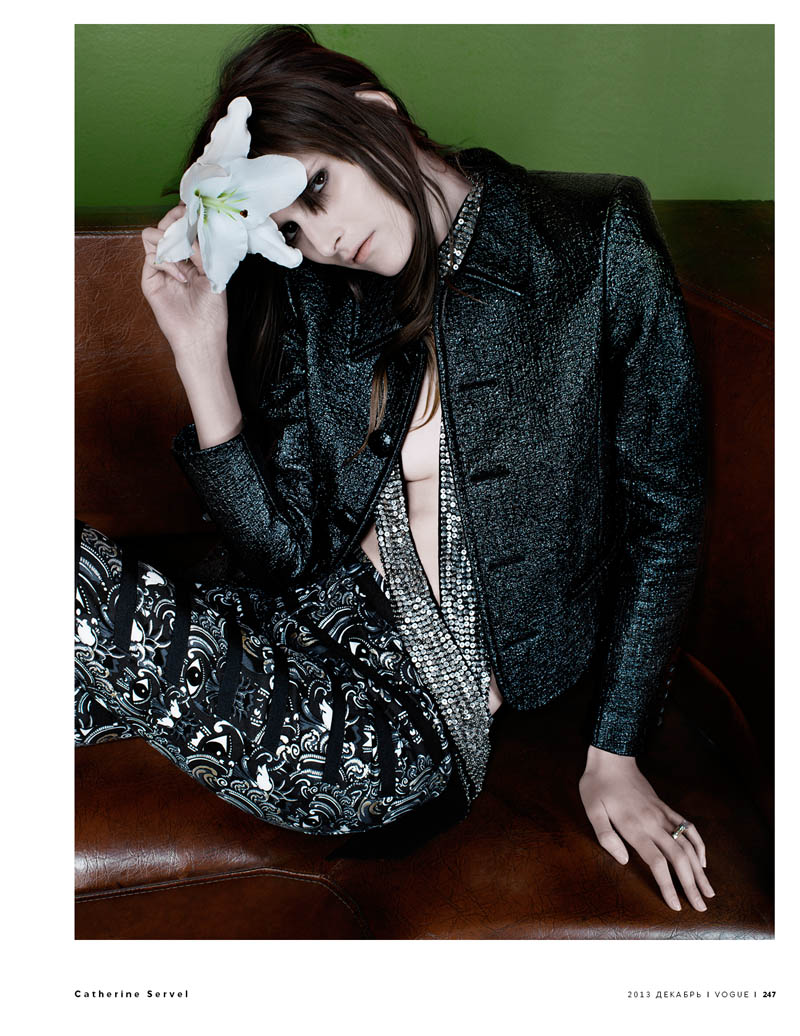 Marie Piovesan is Rock Glam for Vogue Russia by Catherine Servel