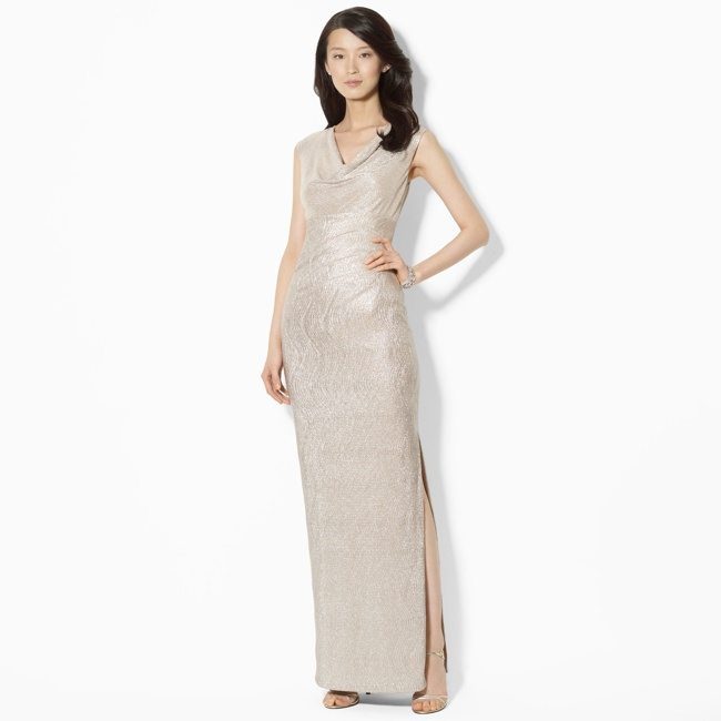 metallic dress ralph lauren 70s Glam: Fashion Inspired by American Hustle Film