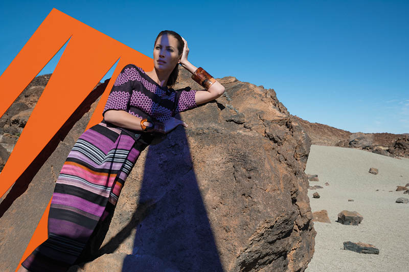 missoni spring summer 2014 camapign3 Christy Turlington Stars in Missoni Spring/Summer 2014 Campaign