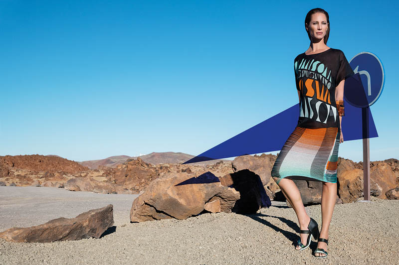 missoni spring summer 2014 camapign6 Christy Turlington Stars in Missoni Spring/Summer 2014 Campaign