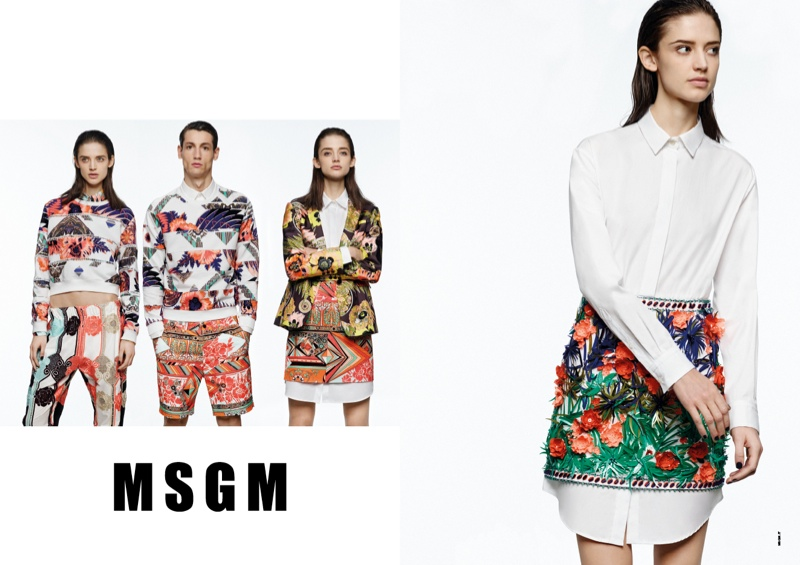 msgm spring 2014 ads1 Kate G. Gets Colorful for MSGM Spring 2014 Ads