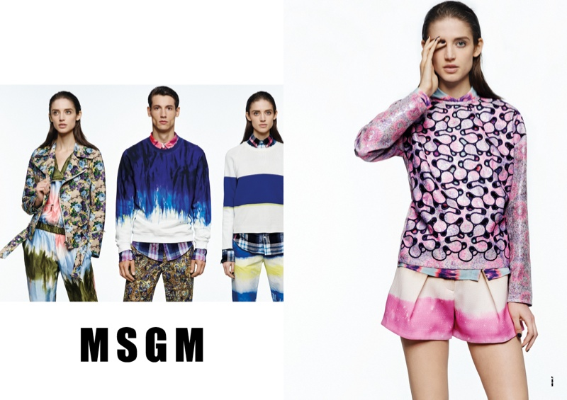 msgm spring 2014 ads2 Kate G. Gets Colorful for MSGM Spring 2014 Ads