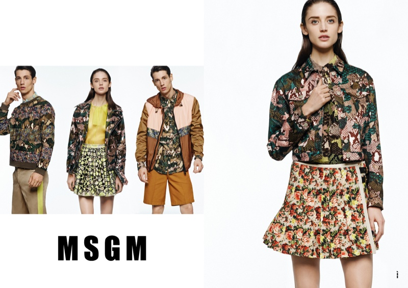 msgm spring 2014 ads3 Kate G. Gets Colorful for MSGM Spring 2014 Ads