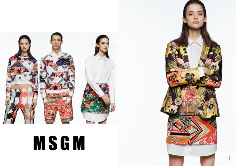 msgm spring 2014 ads5 Kate G. Gets Colorful for MSGM Spring 2014 Ads