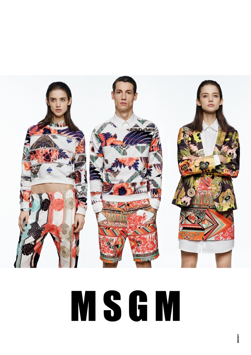 msgm spring 2014 ads6 Kate G. Gets Colorful for MSGM Spring 2014 Ads