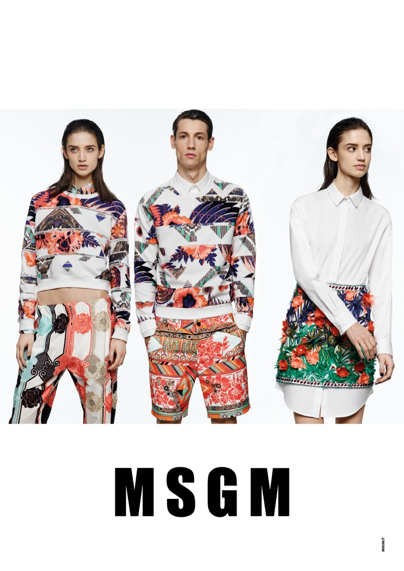 msgm spring 2014 ads8 Kate G. Gets Colorful for MSGM Spring 2014 Ads