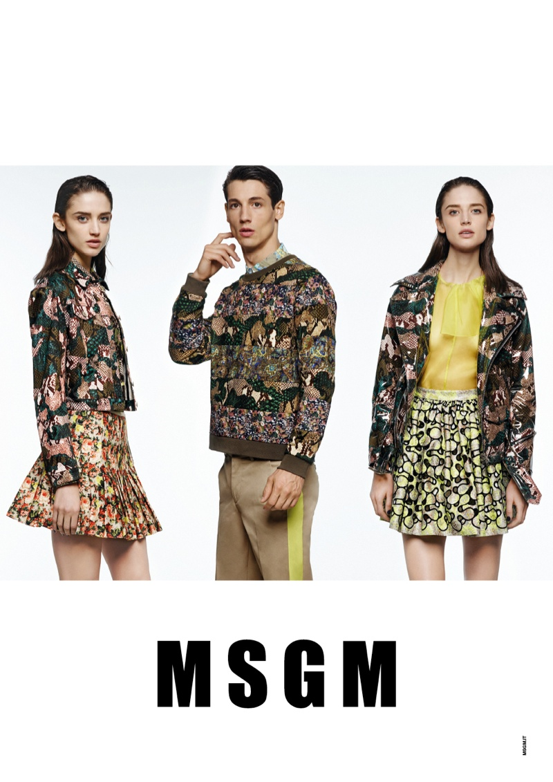 Kate G. Gets Colorful for MSGM Spring 2014 Ads