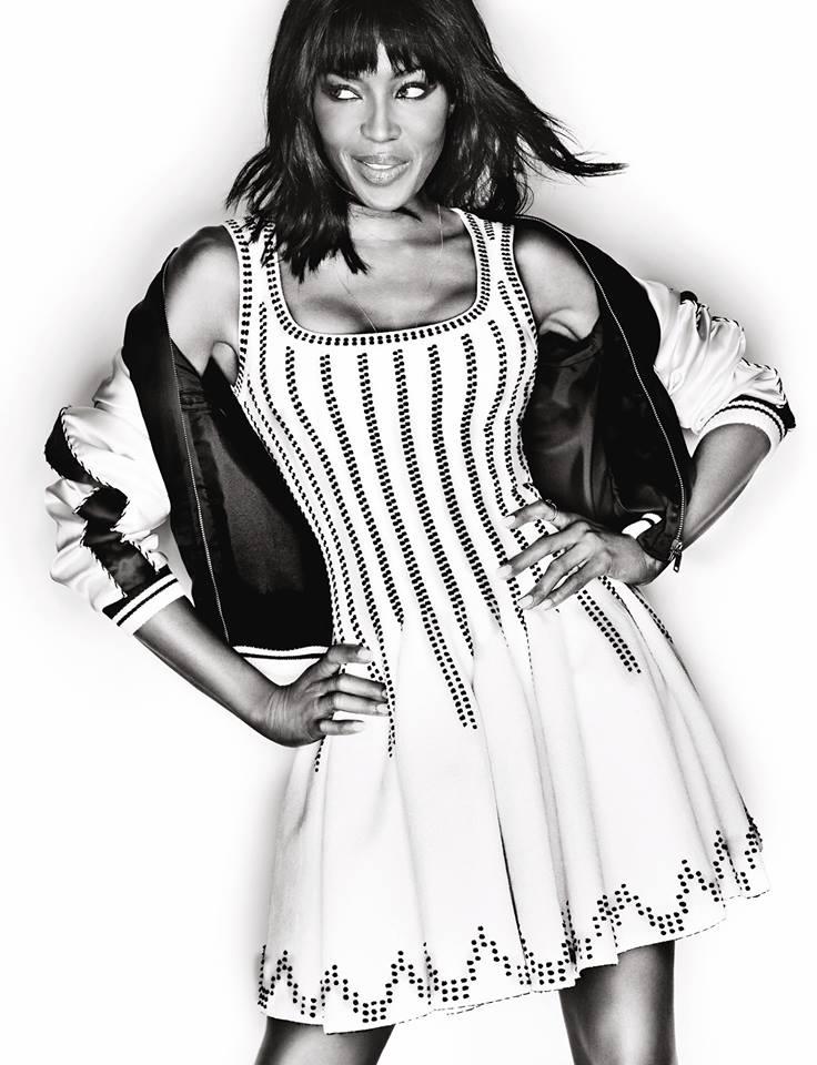 Naomi Campbell Covers Harper's Bazaar Singapore in Dolce & Gabbana