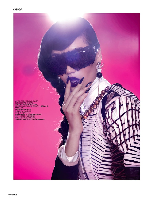 pink punk5 Qi Wen is a Pink Punk for Complot Magazine by Wendy Hope