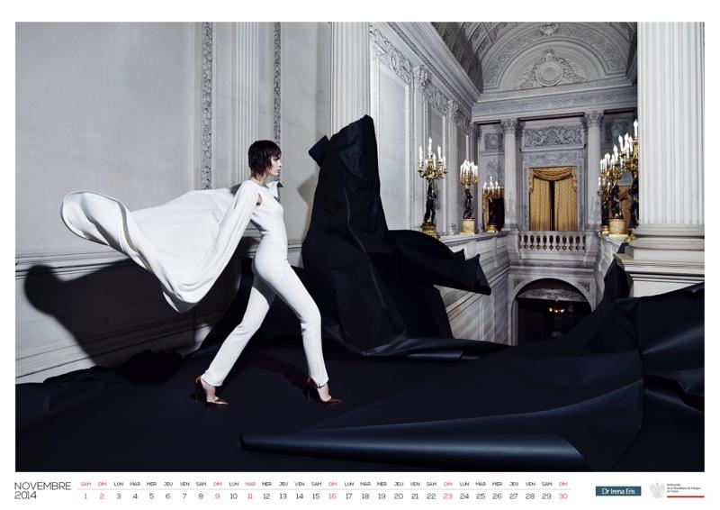 polish calendar patrycja12 Patrycja Gardygajlo Stars in 2014 Polish Embassy in Paris Calendar