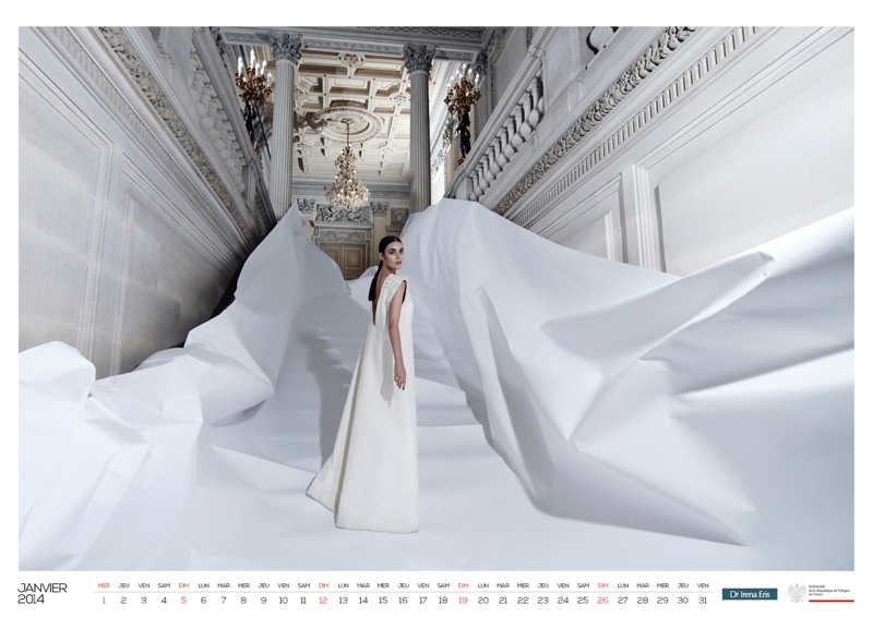 polish calendar patrycja2 Patrycja Gardygajlo Stars in 2014 Polish Embassy in Paris Calendar
