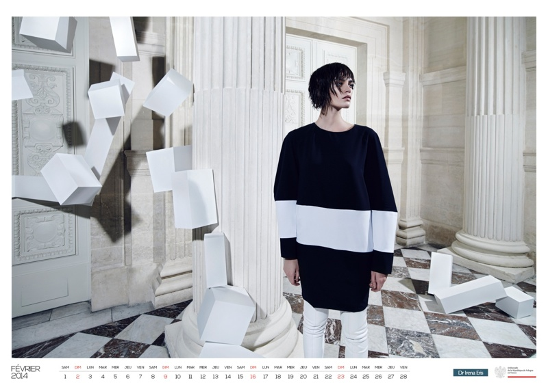 polish calendar patrycja3 Patrycja Gardygajlo Stars in 2014 Polish Embassy in Paris Calendar