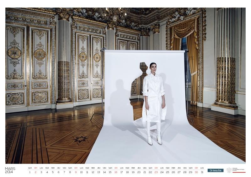 polish calendar patrycja4 Patrycja Gardygajlo Stars in 2014 Polish Embassy in Paris Calendar