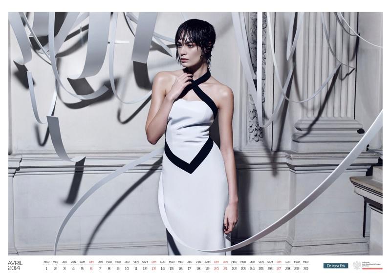 polish calendar patrycja5 Patrycja Gardygajlo Stars in 2014 Polish Embassy in Paris Calendar