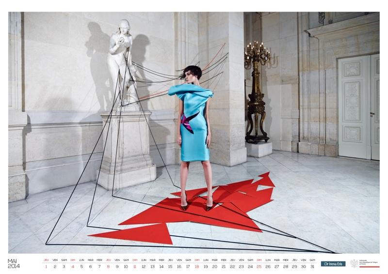polish calendar patrycja6 Patrycja Gardygajlo Stars in 2014 Polish Embassy in Paris Calendar
