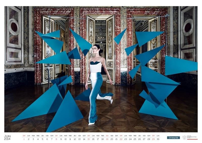 polish calendar patrycja7 Patrycja Gardygajlo Stars in 2014 Polish Embassy in Paris Calendar
