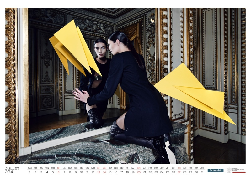 polish calendar patrycja8 Patrycja Gardygajlo Stars in 2014 Polish Embassy in Paris Calendar