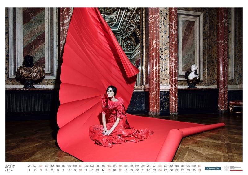 polish calendar patrycja9 Patrycja Gardygajlo Stars in 2014 Polish Embassy in Paris Calendar