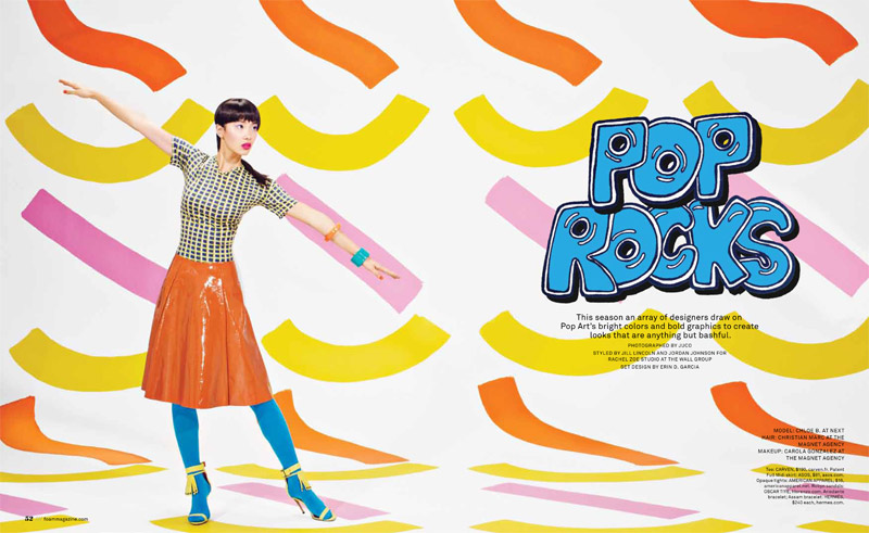 pop rocks1 Chloe B. Wears Pop Art Style for Foam Shoot by JUCO