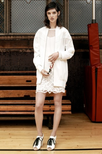 Model wearing look from Rag & Bone's pre-fall 2014 collection