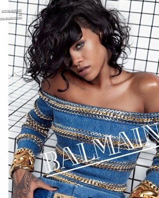 rihanna balmain2 326x406 Versace, Miley Cyrus, Michael Kors Amongst Top 2013 Google Searches