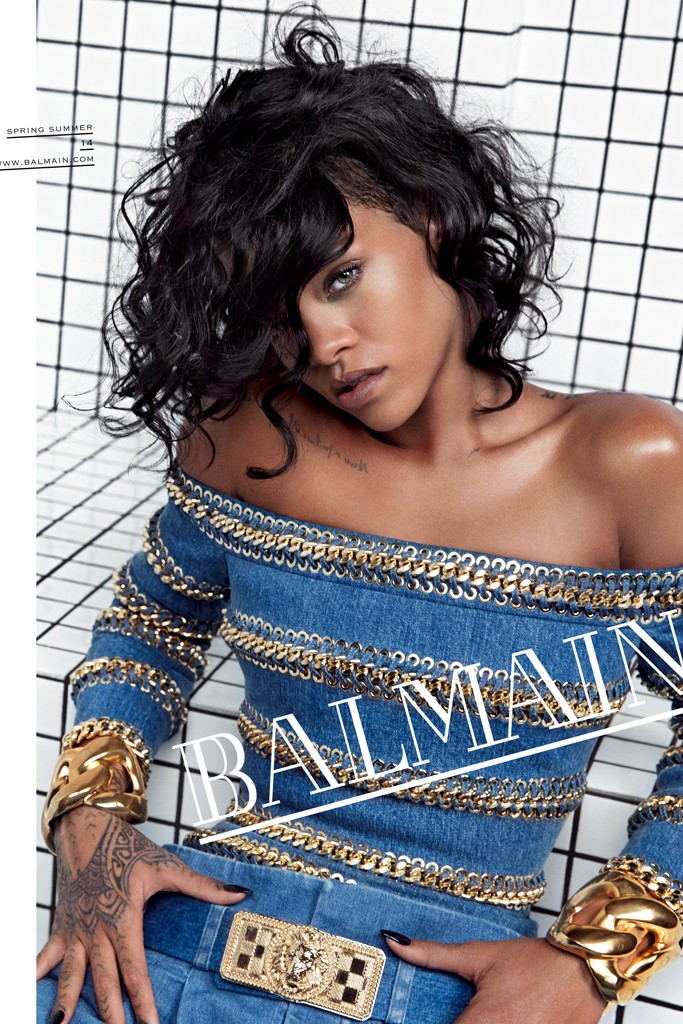 rihanna balmain2 See More Photos from Rihannas Balmain Advertisements