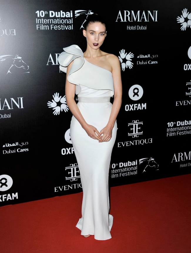 rooney lanvin dress1 Rooney Mara Wears Lanvin at the 10th Annual Dubai Film Festival