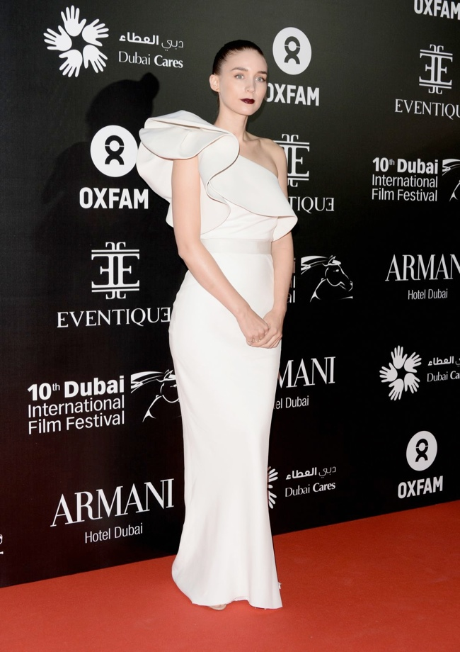 rooney lanvin dress2 Rooney Mara Wears Lanvin at the 10th Annual Dubai Film Festival