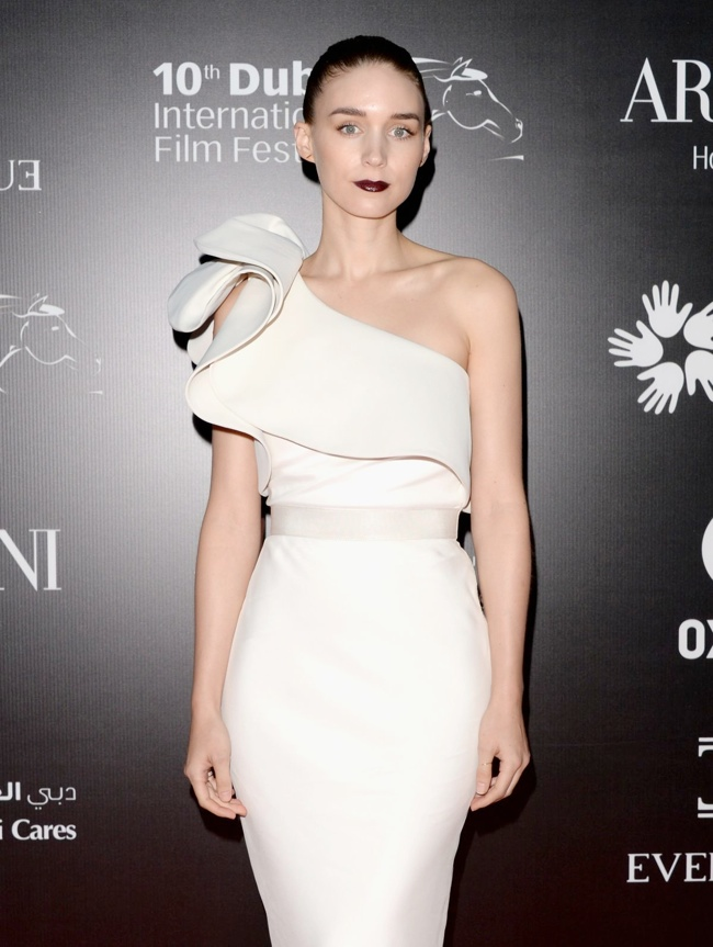 rooney lanvin dress3 Rooney Mara Wears Lanvin at the 10th Annual Dubai Film Festival