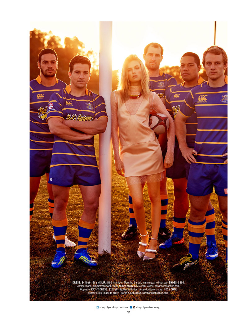 rugby fashion2 Isabelle S is Sporty Glam for Shop Australia Shoot by Steven Chee